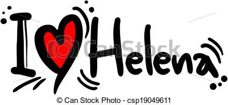 Vector Clip Art of Helena love.