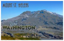 Mount St Helens Stock Illustrations.