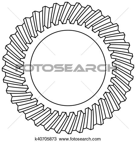 Clipart of Helical gear icon k40705873.
