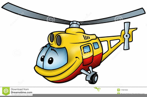 Cartoon Helicopter Clipart.