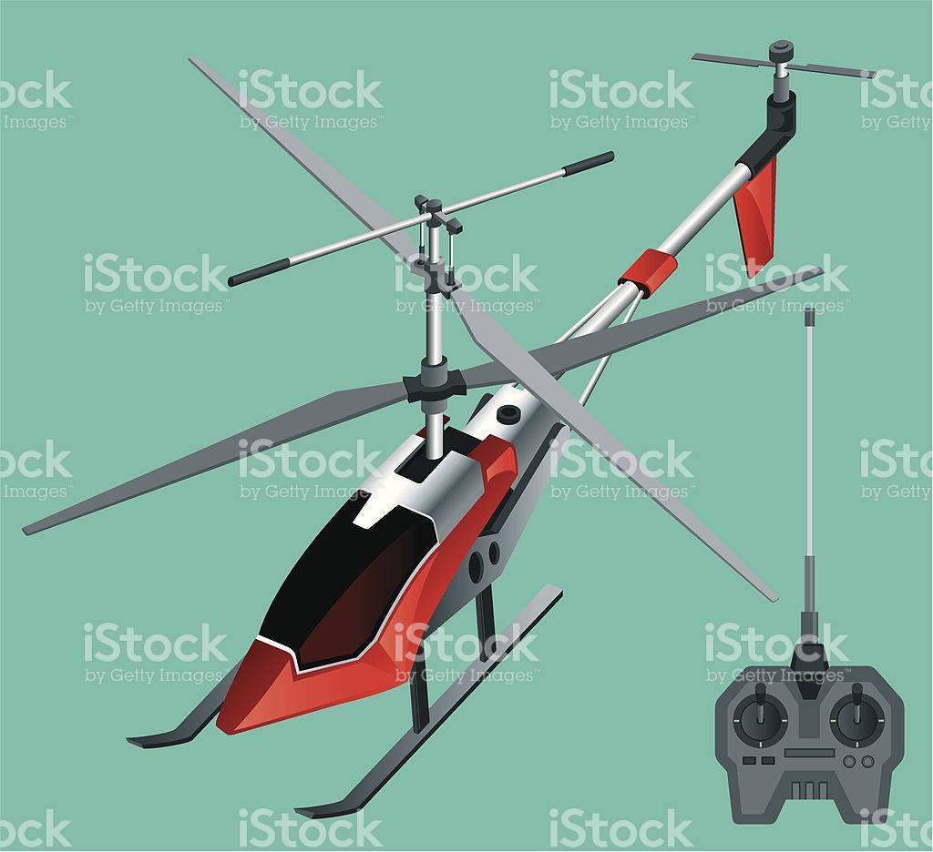 Remote Controlled Helicopter stock vector art 165958391.