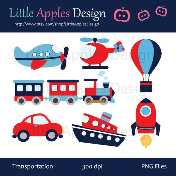 Transportation Clip Art / Transportation Clipart / Plane.