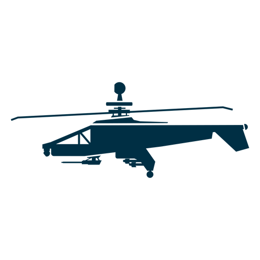 Military helicopter silhouette helicopter icons.