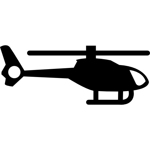 Helicopter silhouette Icons.