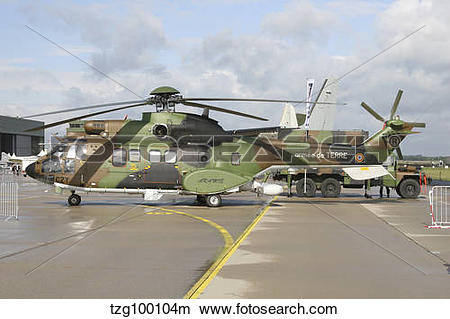 Stock Photo of Cougar Horizon early warning radar helicopter of.