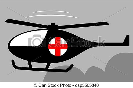 Stock Illustration of Helicopter.
