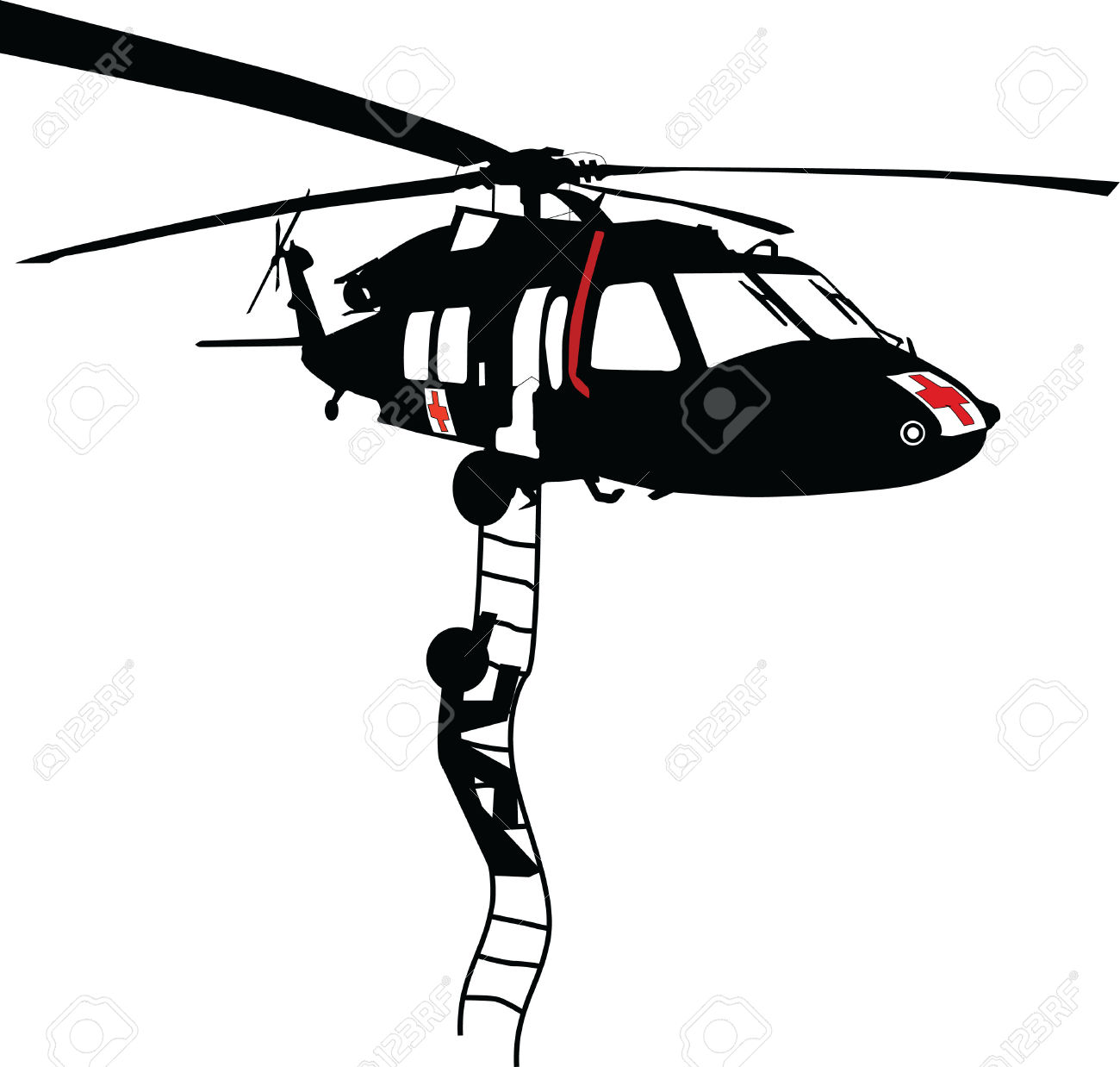 Rescue Helicopter Clipart.