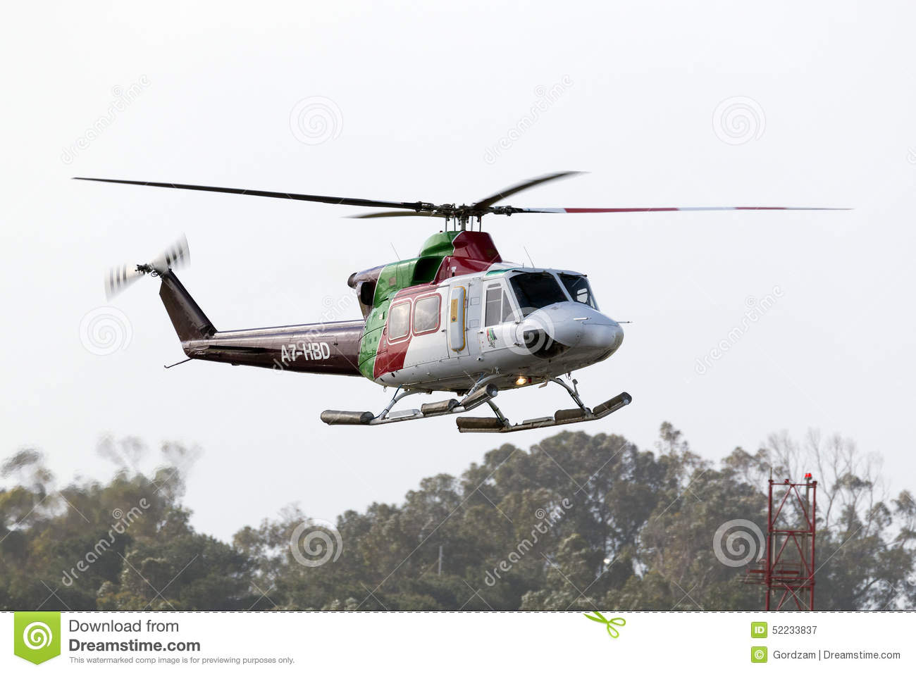 Luqa, Malta 2 April 2015: Gulf Helicopters Bell 412EP Taxi Back To.