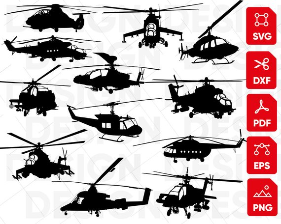 Helicopter svg Bundle, airplane svg, helicopter clipart.