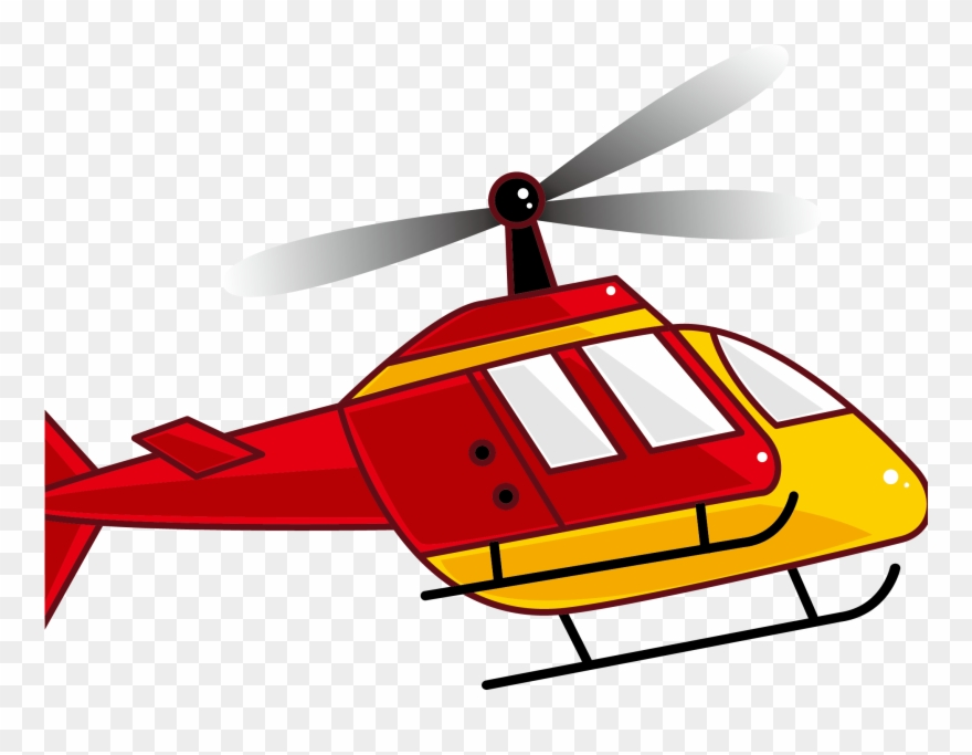 Helicopter Clipart Yellow Helicopter.