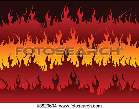 Clipart of Fire in Hell k3529604.