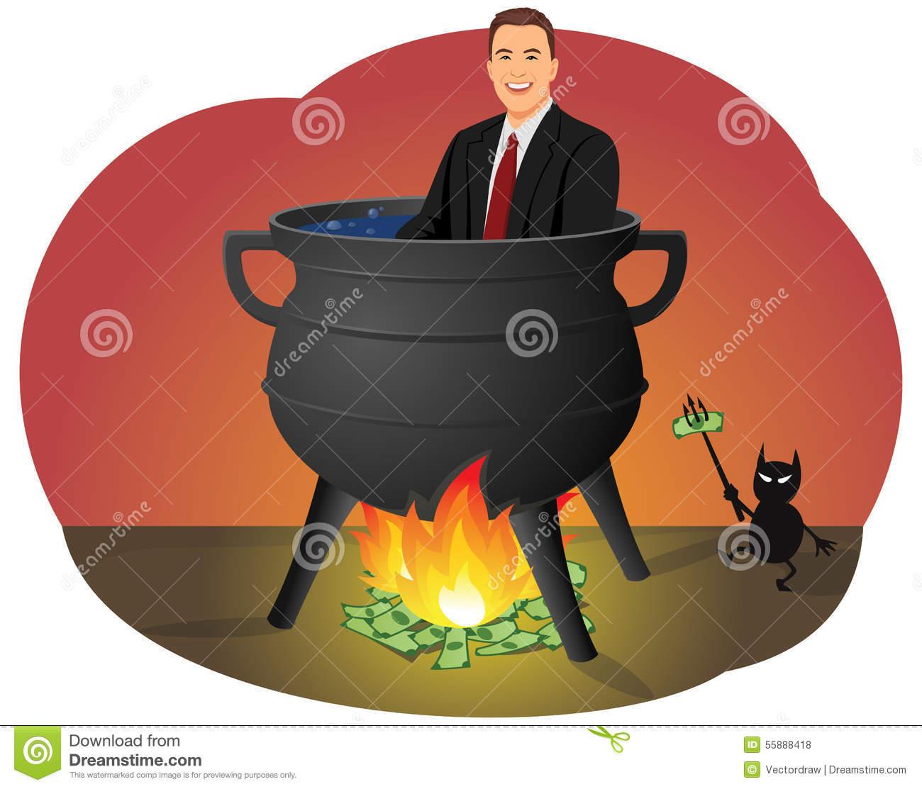 Financial Hell Stock Vector.