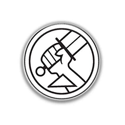 Amazon.com : Logo Hellboy : Superheros, Pinback Button Badge.