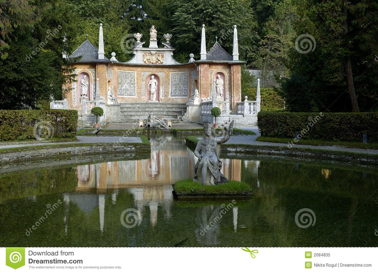 Hellbrunn Palace Park Royalty Free Stock Photo.
