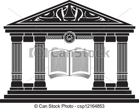 Clipart Vector of ancient hellenic school csp12164853.