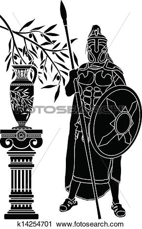 Clipart of ancient hellenic man k14254701.