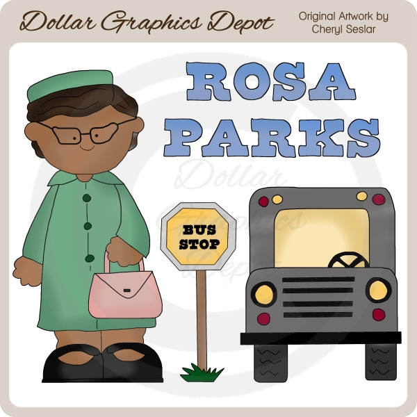 Clipart rosa parks.