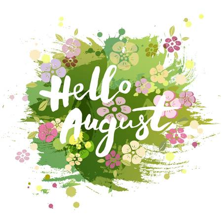 832 Hello August Stock Vector Illustration And Royalty Free Hello.