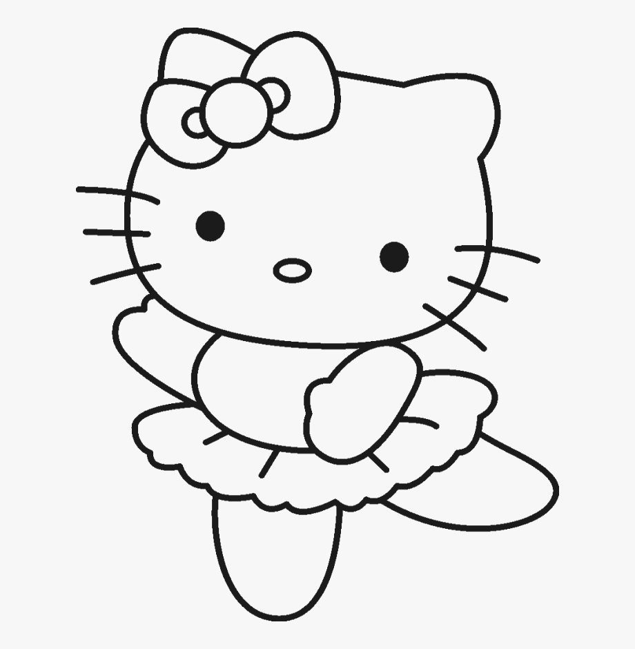 Hello Kitty Clipart Black And White.