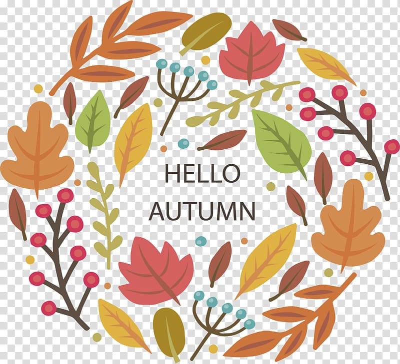Poster Autumn , Hello autumn Poster transparent background.
