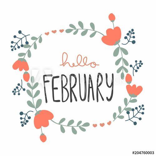Hello February Clipart.
