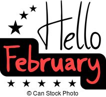 Hello february Clip Art Vector Graphics. 292 Hello february EPS.
