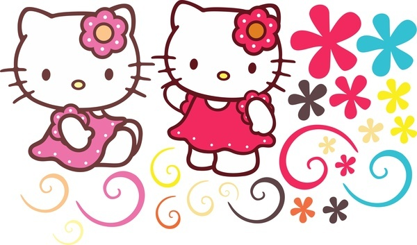 Free hello kitty page border designs free vector download (7,040.