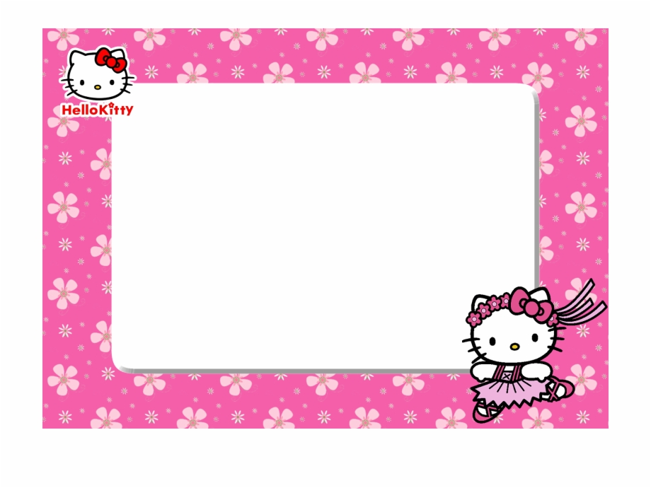 Hello Kitty Birthday Frame Png.