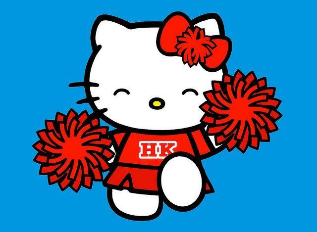 Hello Kitty Cheerleader Clipart.
