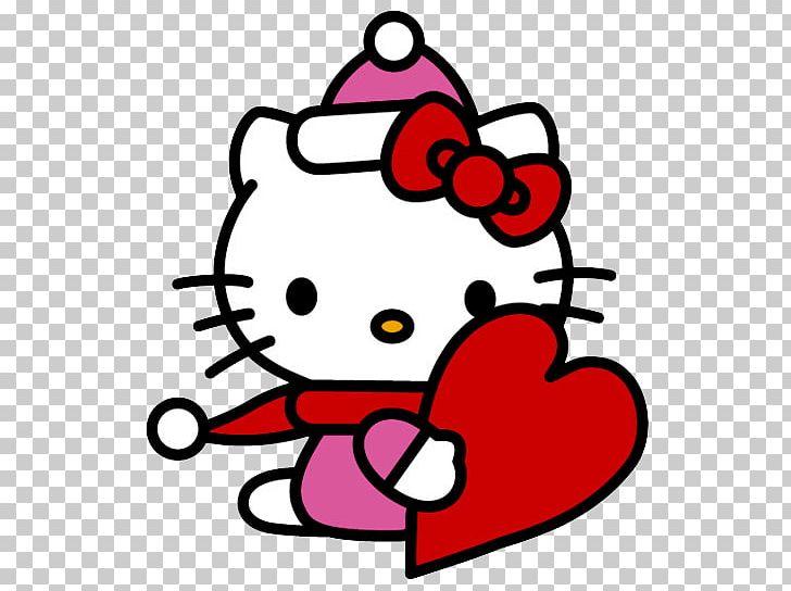 Hello Kitty Christmas PNG, Clipart, Area, Artwork, Cartoon.