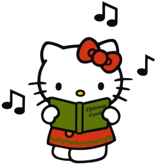 Hello Kitty singing Christmas Carol.