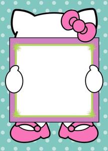 Free Hello Kitty Clipart Borders.