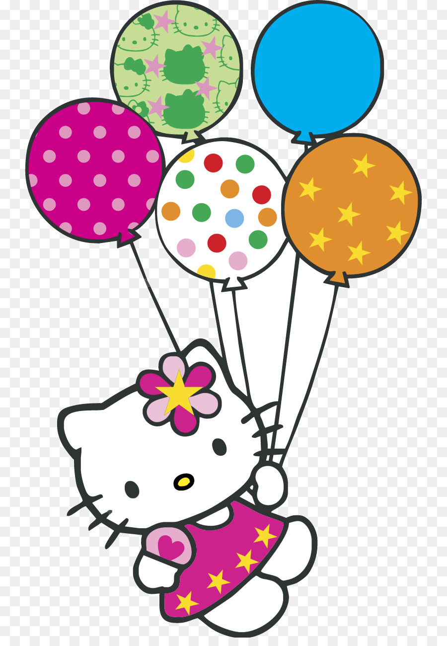 Hello Kitty Happy Birthday clipart.