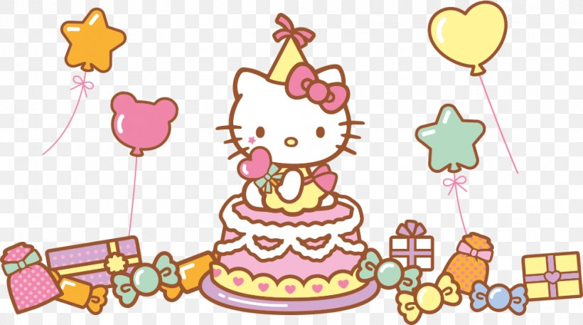 Hello Kitty Birthday Cake Drawing, PNG, 995x555px, Hello.