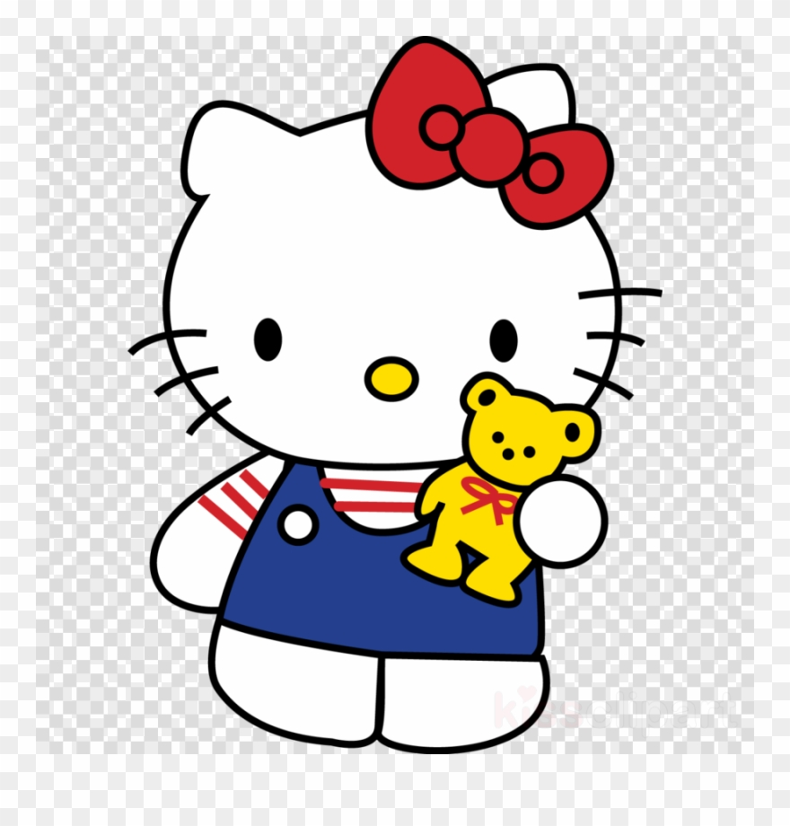 Download Hello Kitty & Bear Embroidery Design Clipart.