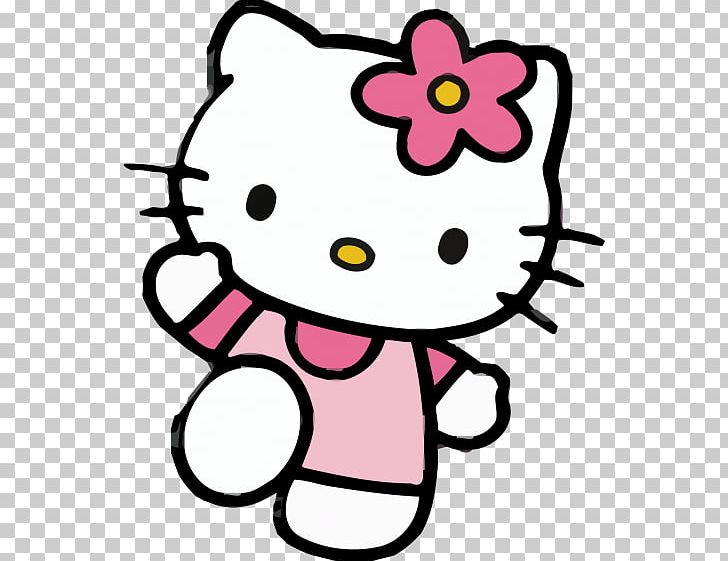 Hello Kitty Birthday Greeting & Note Cards Party PNG.