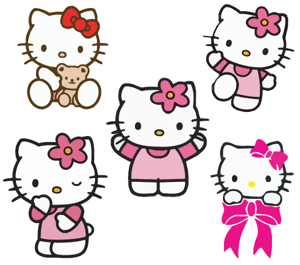 Clipart library: More Like Hello Kitty PNG Pack by LennSoshi.