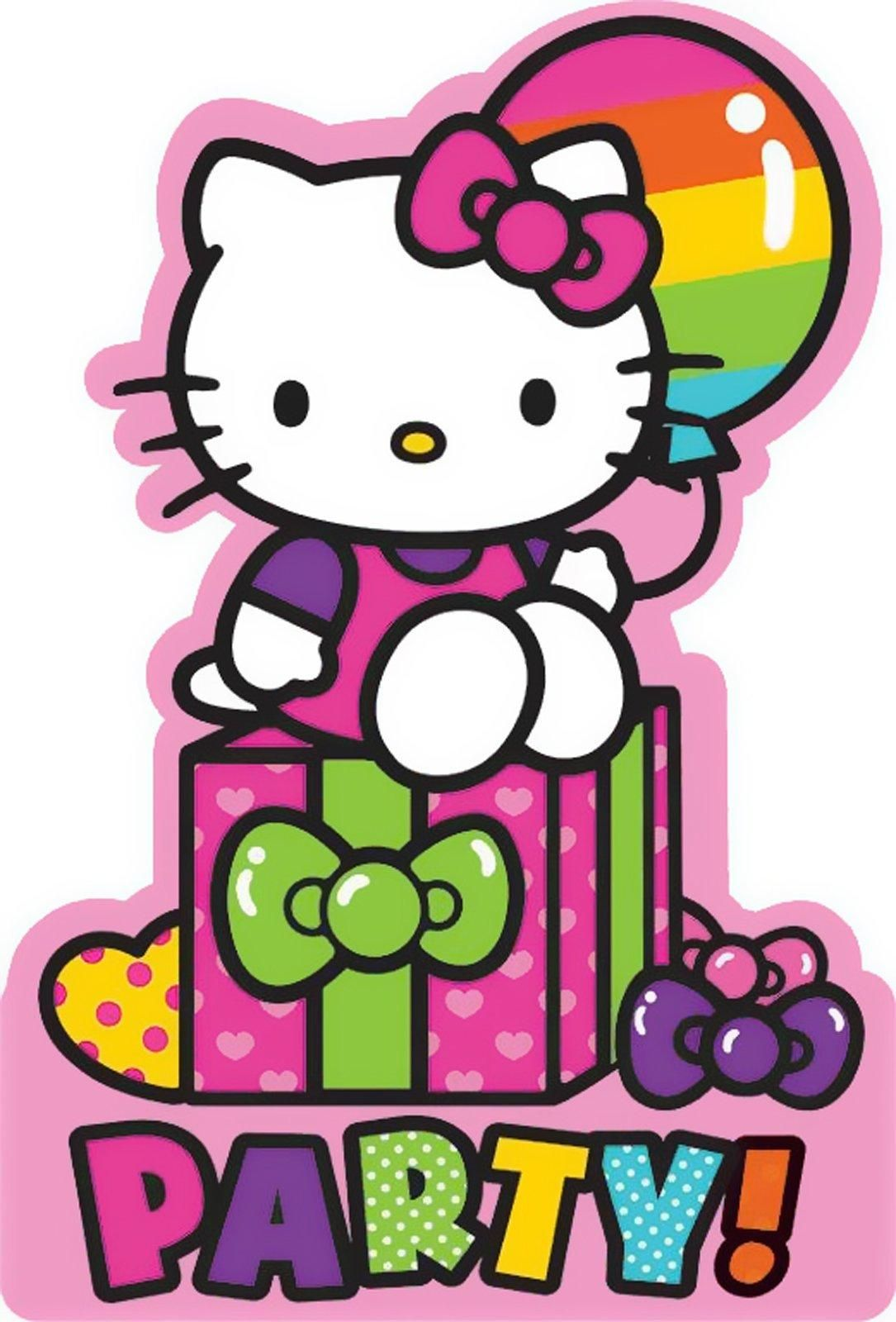 Hello Kitty Rainbow Invitations (8 Pack).