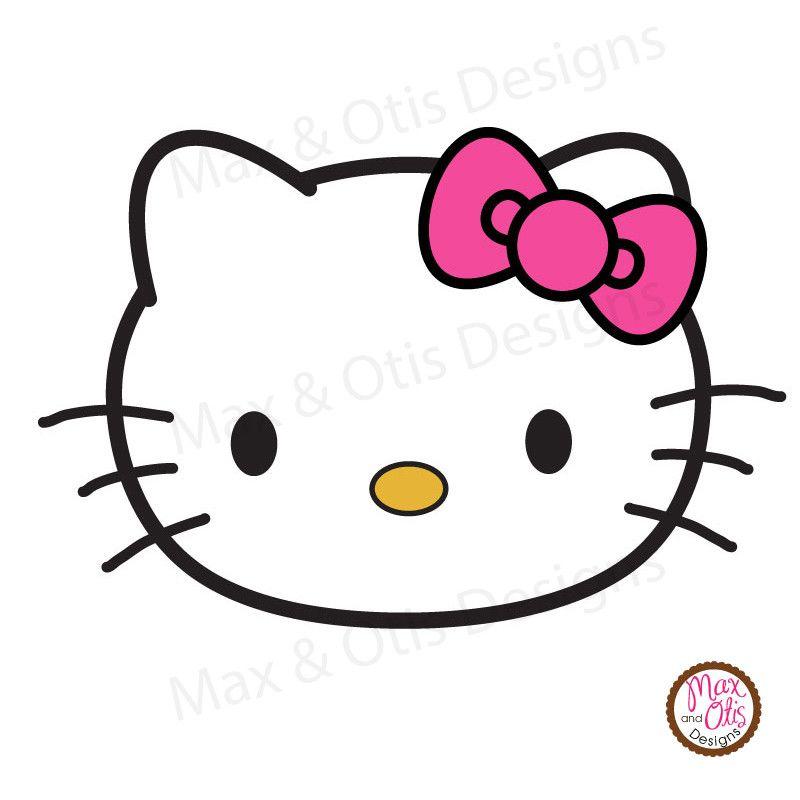 Hello Kitty Face Printable Sign Banner.