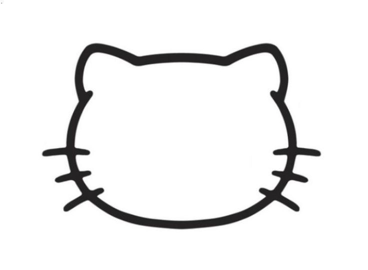 Hello Kitty Outline Drawings.