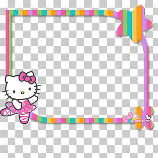 74 hello Kitty Frame PNG cliparts for free download.