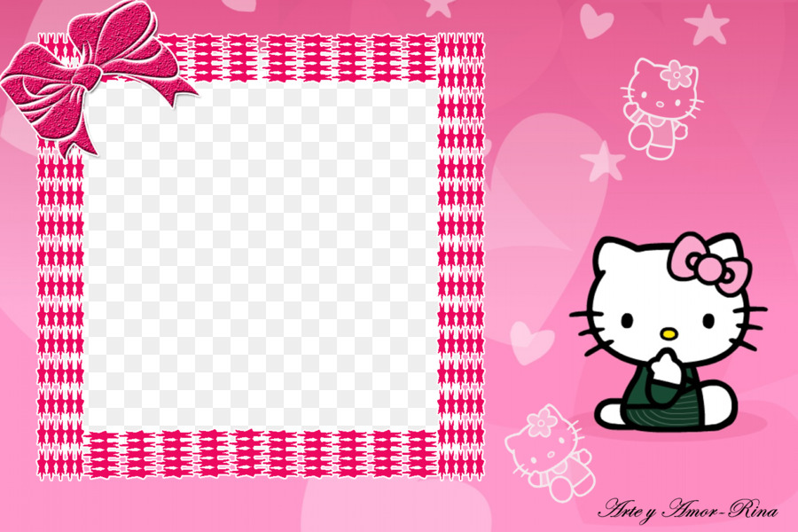Hello Kitty Frame png download.
