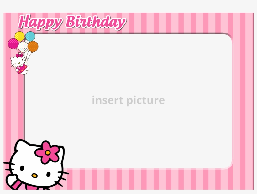 Download Free Printable Hello Kitty Png Frame.