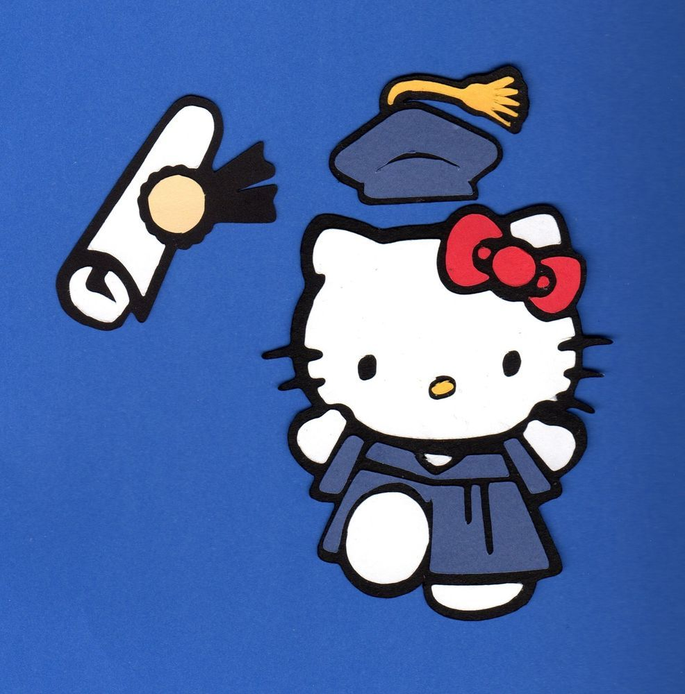 Details about Hello Kitty in Graduation Cap & Gown w/ Diploma Die.