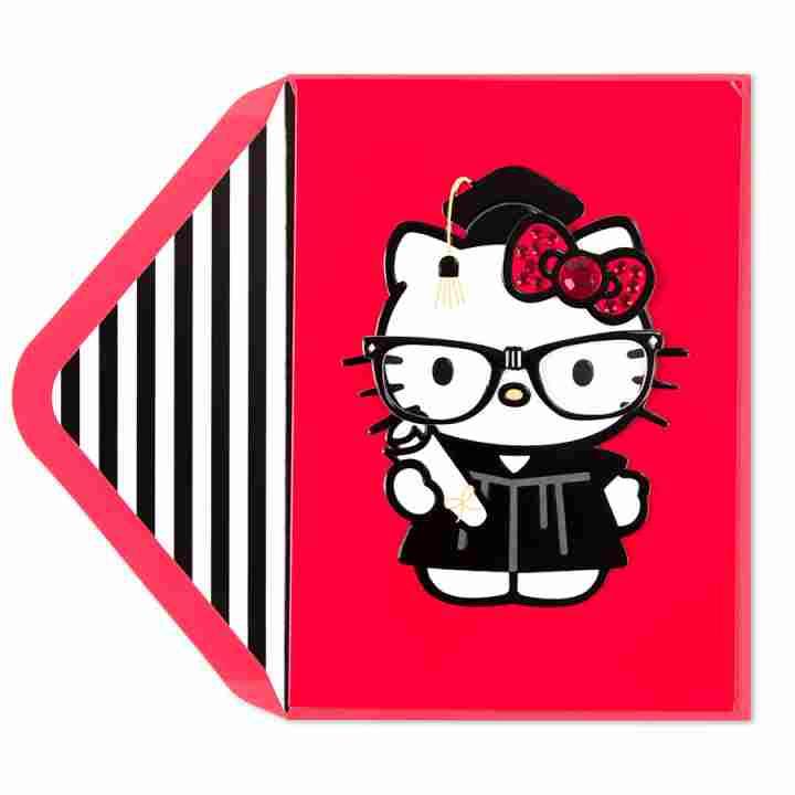 Hello Kitty Grad Card.