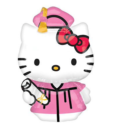 HELLO KITTY LIMITED: HELLO KITTY GRADUATION BALLOON.