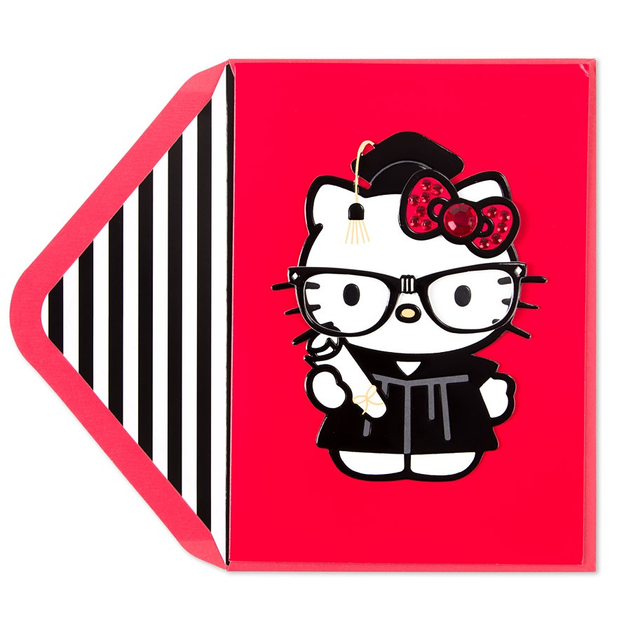 Hello Kitty Grad Card.
