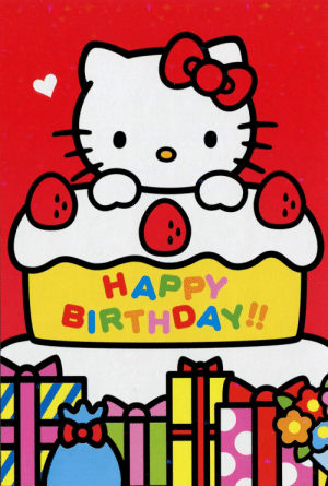 New Hello Kitty Happy Birthday Memes.