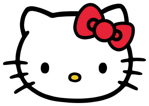 Hello Kitty Head ClipArt in PNG File.