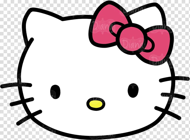 Hello Kitty Kitten Cat , Kitty Head transparent background PNG.